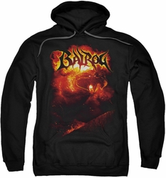 Lord Of The Rings pull-over hoodie Balrog adult black