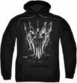 Lord Of The Rings pull-over hoodie Big Sauron Head adult black