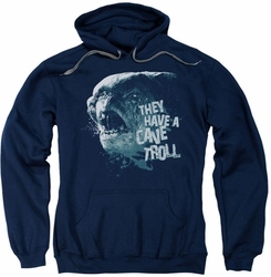 Lord Of The Rings pull-over hoodie Cave Troll adult navy