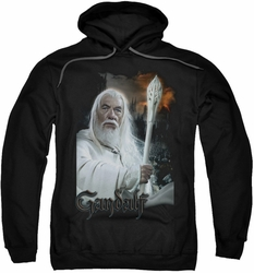 Lord Of The Rings pull-over hoodie Gandalf adult black