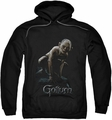 Lord Of The Rings pull-over hoodie Gollum adult black