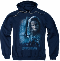 Lord Of The Rings pull-over hoodie King In The Making adult navy