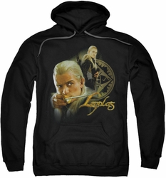 Lord Of The Rings pull-over hoodie Legolas adult black