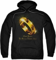 Lord Of The Rings pull-over hoodie One Ring adult black