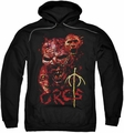 Lord Of The Rings pull-over hoodie Orcs adult black