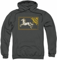 Lord Of The Rings pull-over hoodie Rohan Banner adult charcoal