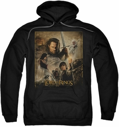 Lord Of The Rings pull-over hoodie ROTK Return King Poster adult black