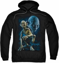 Lord Of The Rings pull-over hoodie Smeagol adult black