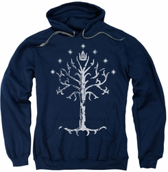 Lord Of The Rings pull-over hoodie Tree Of Gondor adult navy
