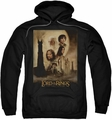 Lord Of The Rings pull-over hoodie Two Towers Poster adult black