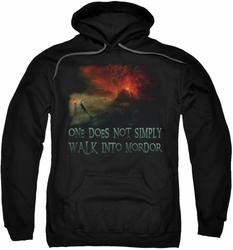 Lord Of The Rings pull-over hoodie Walk In Mordor adult black