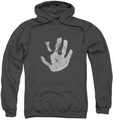 Lord Of The Rings pull-over hoodie White Hand adult charcoal
