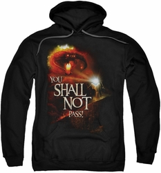 Lord Of The Rings pull-over hoodie You Shall Not Pass adult black