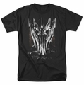 Lord of the Rings Sauron Head mens t-shirt black