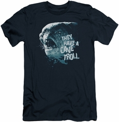 Lord of the Rings slim-fit t-shirt Cave Troll mens navy