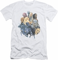Lord of the Rings slim-fit t-shirt Collage Of Evil mens white