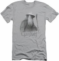 Lord of the Rings slim-fit t-shirt Gandalf The Grey mens silver