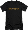 Lord of the Rings slim-fit t-shirt Movie Logo mens black
