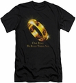 Lord of the Rings slim-fit t-shirt One Ring mens black