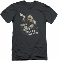 Lord of the Rings slim-fit t-shirt Pretty Face mens charcoal