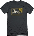Lord of the Rings slim-fit t-shirt Rohan Banner mens charcoal