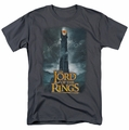 Lord of the Rings t-shirt Always Watching mens charcoal