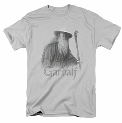 Lord of the Rings t-shirt Gandalf The Grey mens silver