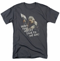 Lord of the Rings t-shirt Pretty Face mens charcoal