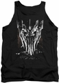 Lord of the Rings tank top Big Sauron Head mens black
