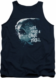 Lord of the Rings tank top Cave Troll mens navy