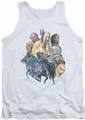 Lord of the Rings tank top Collage Of Evil mens white
