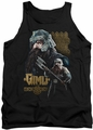 Lord of the Rings tank top Gimli mens black