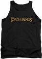 Lord of the Rings tank top Lotr Logo mens black