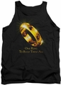 Lord of the Rings tank top One Ring mens black