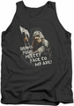 Lord of the Rings tank top Pretty Face mens charcoal
