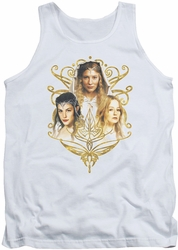 Lord of the Rings tank top Women Of Middle Earth mens white
