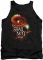 Lord of the Rings tank top You Shall Not Pass mens black