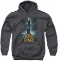 Lord of the Rings youth teen hoodie Always Watching charcoal