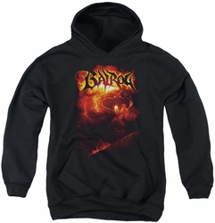 Lord of the Rings youth teen hoodie Balrog black