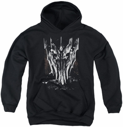 Lord of the Rings youth teen hoodie Big Sauron Head black