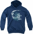 Lord of the Rings youth teen hoodie Cave Troll navy