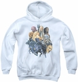 Lord of the Rings youth teen hoodie Collage Of Evil white