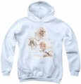 Lord of the Rings youth teen hoodie Gandalf The White white