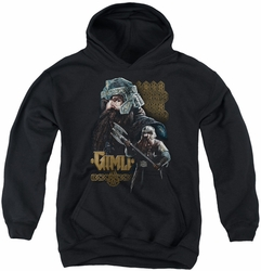 Lord of the Rings youth teen hoodie Gimli black