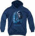 Lord of the Rings youth teen hoodie King In The Making navy