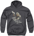 Lord of the Rings youth teen hoodie Pretty Face charcoal