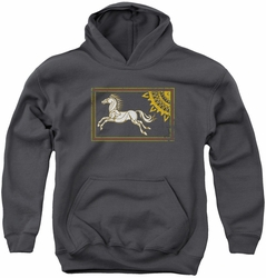 Lord of the Rings youth teen hoodie Rohan Banner charcoal