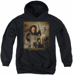 Lord of the Rings youth teen hoodie Rotk Poster black