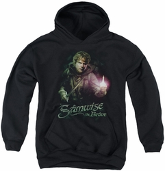 Lord of the Rings youth teen hoodie Samwise The Brave black