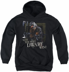 Lord of the Rings youth teen hoodie The Best Dwarf black
